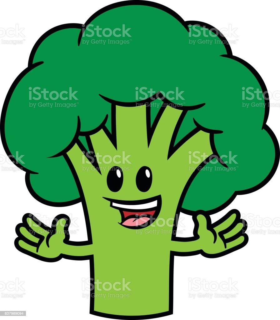 ilustração de personagem de desenho animado brócolis e mais banco de