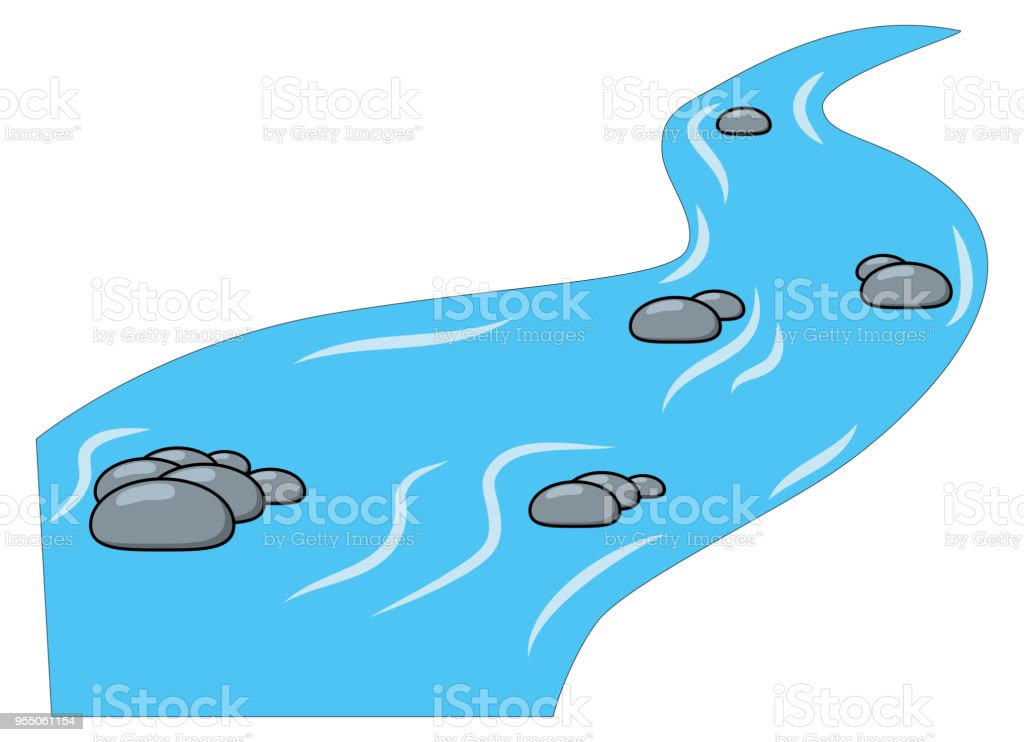 Cartoon Brook River Isolated On White Background Stock Illustration Download Image Now Istock