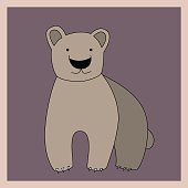 Cartoon brown bear