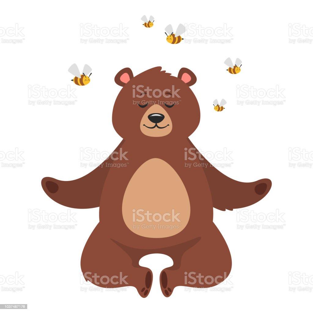 ilustração de desenhos animados urso marrom e mais banco de imagens