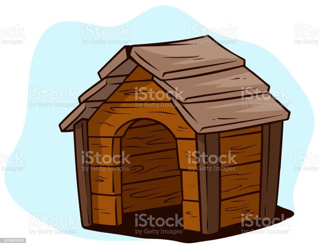 Ilustración De Casa Perro Madera Marrón De Dibujos