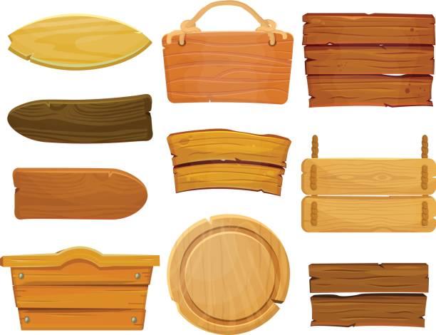 Cartoon Wood Board ~ Royalty free wood planks clip art vector images