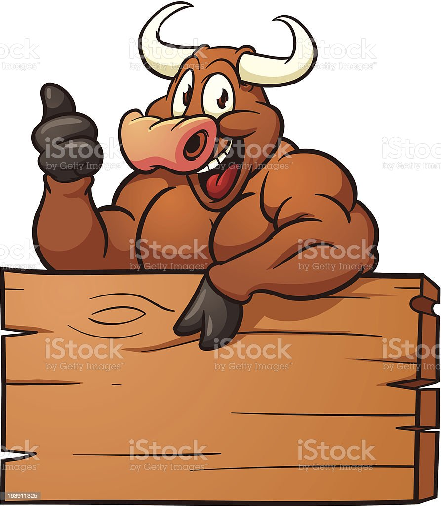 Cartoon Bull royalty-free stock vector art