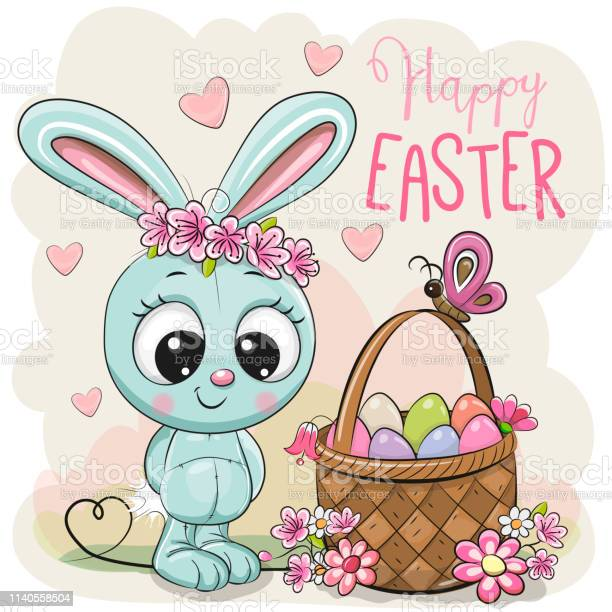 Cartoon bunny with a basket of easter eggs vector id1140558504?b=1&k=6&m=1140558504&s=612x612&h=j70qbcwcgw s5dg1lgf8v815pzvbp dcmfl1wd5bwfw=