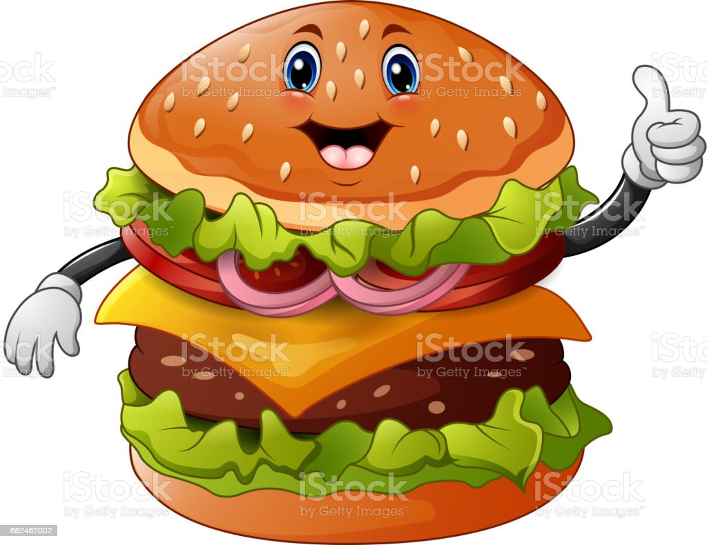 Cartoon burger giving a thumbs up royalty-free cartoon burger giving a thumbs up stock vector art & more images of barbecue