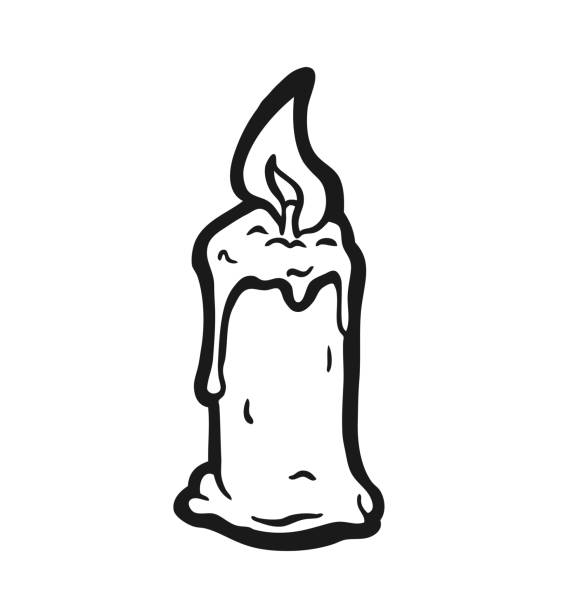 Royalty Free Melting Candle Clip Art, Vector Images