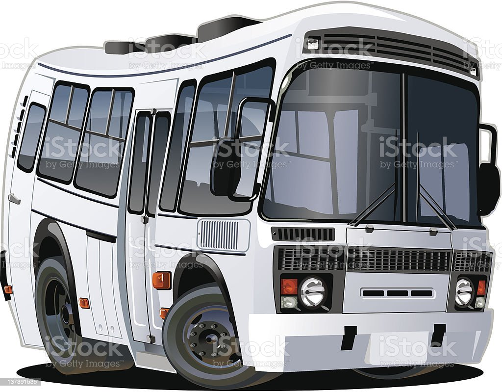 cartoon bus vector art illustration