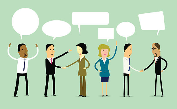 Cartoon Business teamwork concept illustration vector art illustration