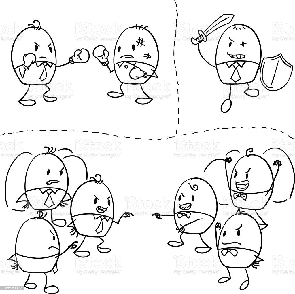 Cartoon businessman illustration vector art illustration