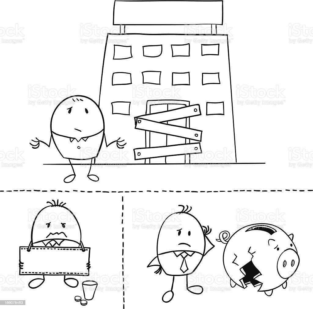 Cartoon businessman is going bankrupt illustration royalty-free cartoon businessman is going bankrupt illustration stock vector art & more images of adult