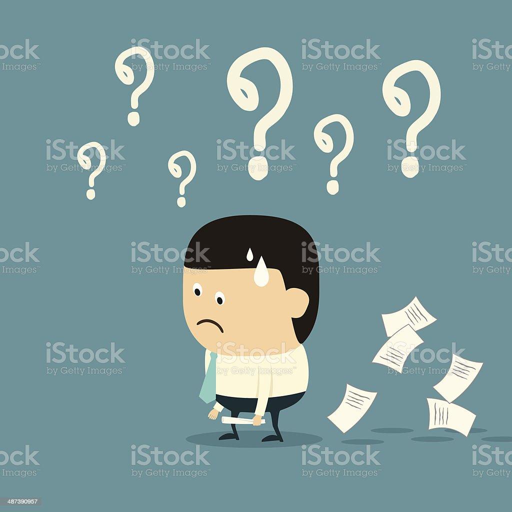 Cartoon Businessman with Failure concept vector art illustration
