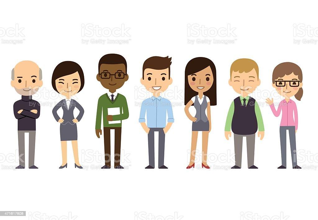 Cartoon Businesspeople vector art illustration