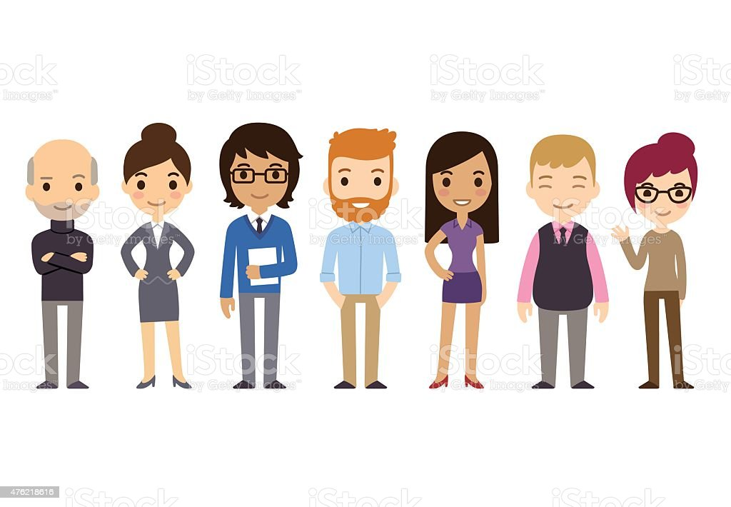 Cartoon Businesspeople vector art illustration
