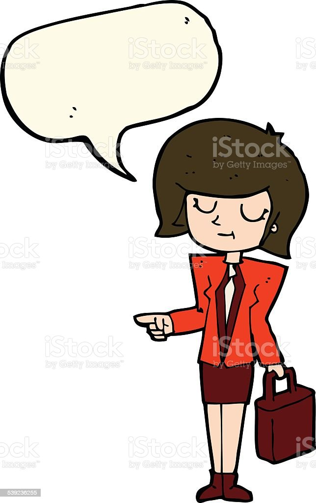 cartoon businesswoman pointing with speech bubble royalty-free cartoon businesswoman pointing with speech bubble stock vector art & more images of adult