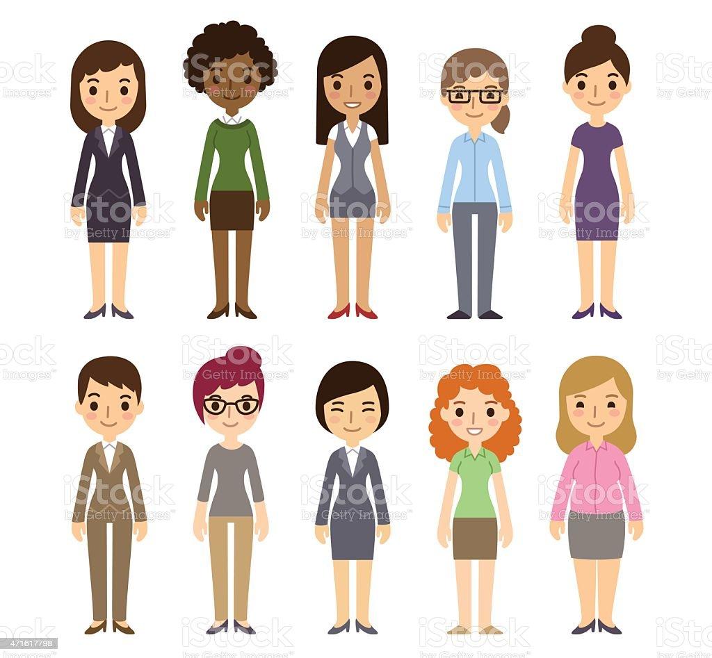 Cartoon Businesswomen vector art illustration