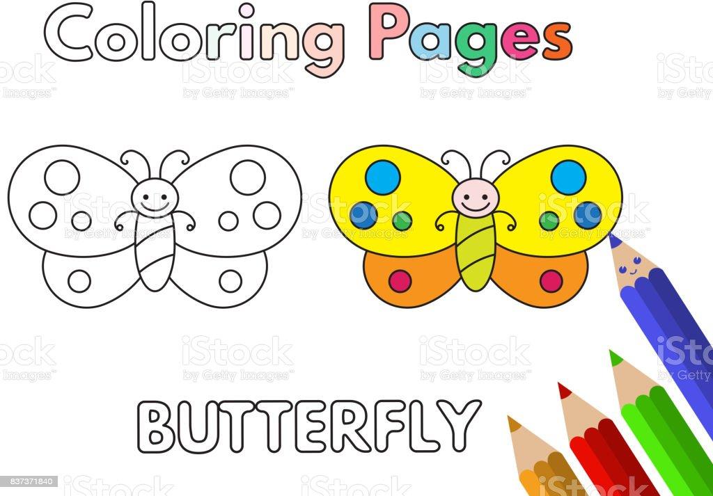 漫画蝶の塗り絵 お絵かきのベクターアート素材や画像を多数ご用意 Istock