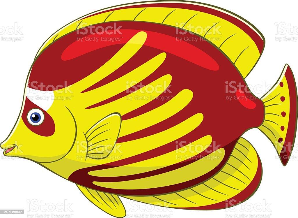 Cartoon butterflyfish Lizenzfreies cartoon butterflyfish stock vektor art und mehr bilder von comic - kunstwerk