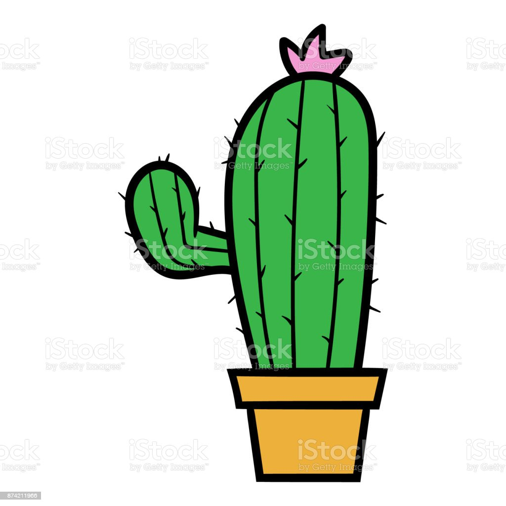 Cactus Porn Dibujo cartoon cactus vector illustration stock illustration