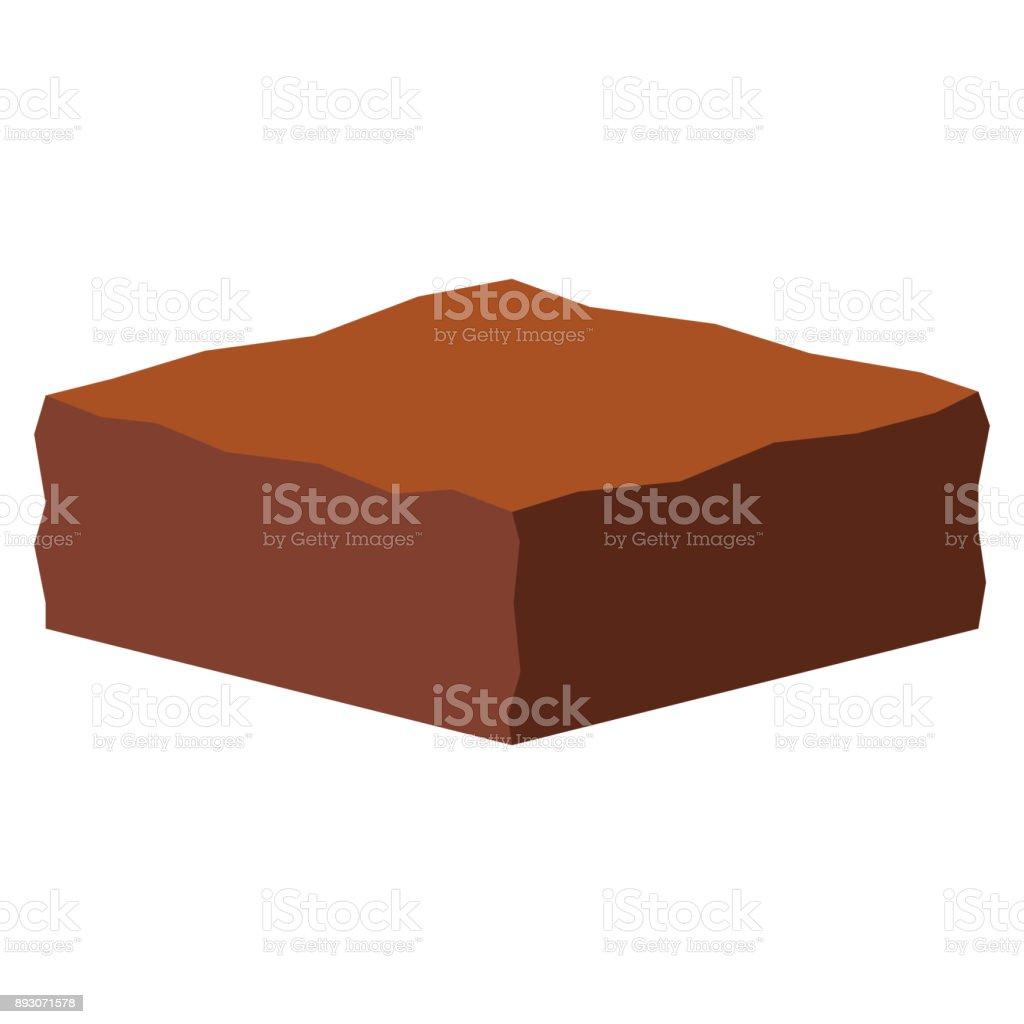 Cartoon Cake Isolated On White Background vector art illustration