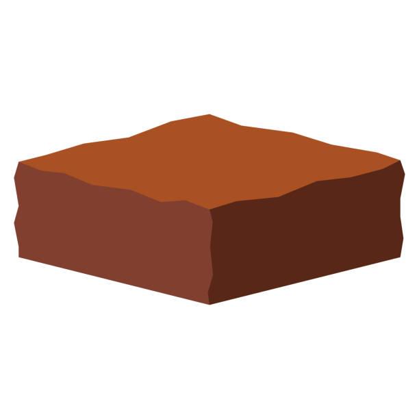 bildbanksillustrationer, clip art samt tecknat material och ikoner med cartoon tårta isolerad på vit bakgrund - brownie
