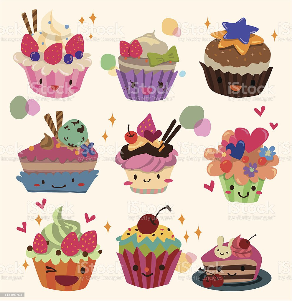 cartoon cake royalty-free stock vector art