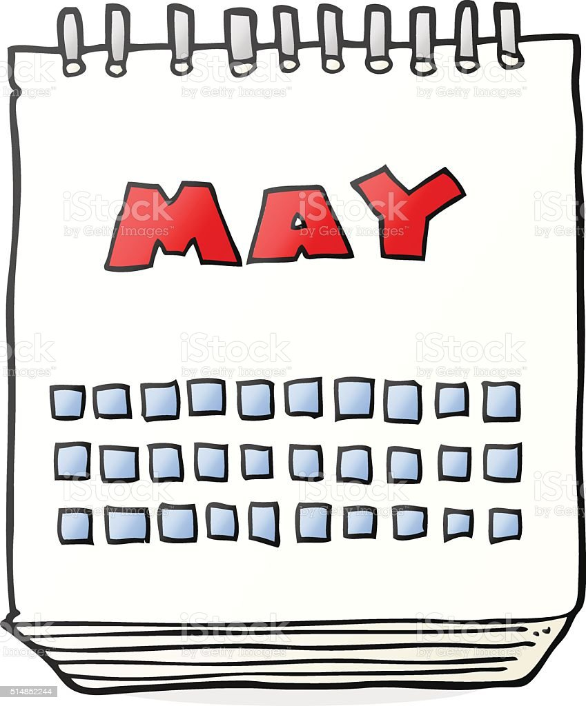Calendar Clip Art May : Cartoon calendar showing month of may stock vector art