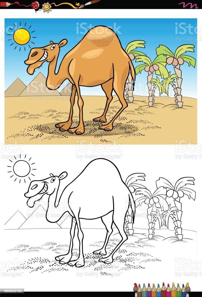 Ilustración de Dibujos Animados Camellos En El Desierto Para ...
