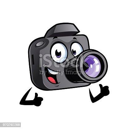 istock Cartoon camera mascot 970292268