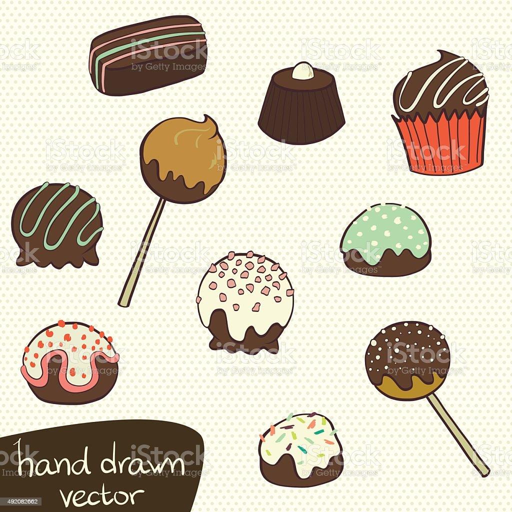 Cartoon candys. vector art illustration