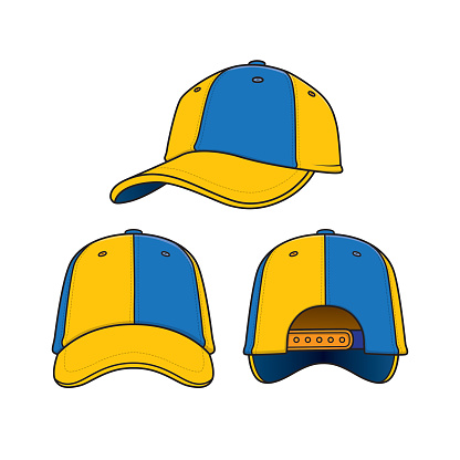 Cartoon caps for kids which is a vector illustration for preschool and home training for parents and teachers.