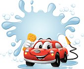 - cartoon illustration of car wash