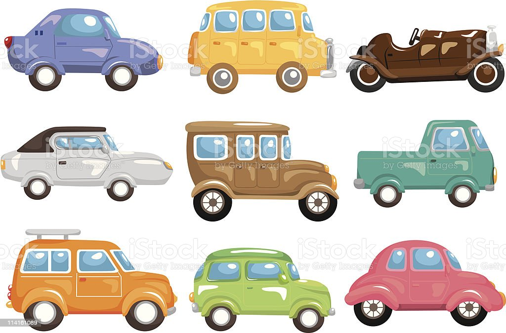 cartoon car icon royalty-free stock vector art