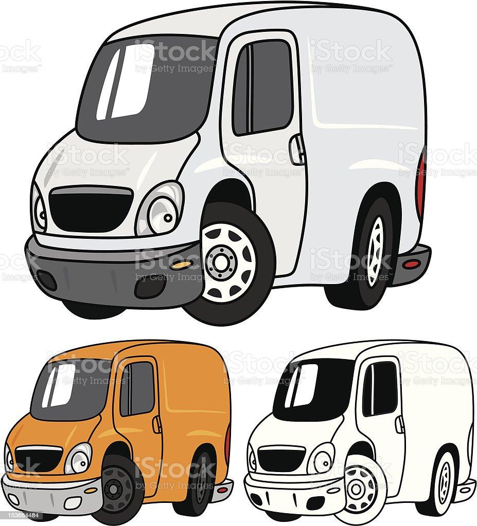 Cartoon Cargo Van royalty-free stock vector art