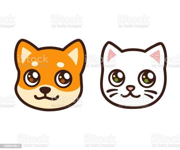 Cartoon cat and dog face vector id1068846522?b=1&k=6&m=1068846522&s=612x612&h=ug8z3b5oezdtlmk 6xaks pe z0ufwkcecb2wlncyq4=