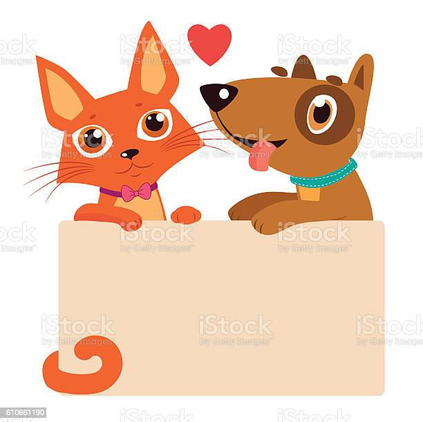 Cartoon cat and dog friendship vector best friends vector id610661190?b=1&k=6&m=610661190&s=612x612&h=hx jj3chyhgop ha0crtocnofrumoyfpuas6vet7ak8=