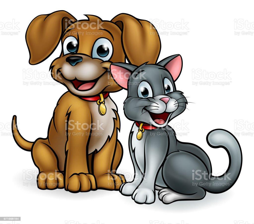 Vetores De Desenho Animado Gato E Cachorro De Estimacao E Mais