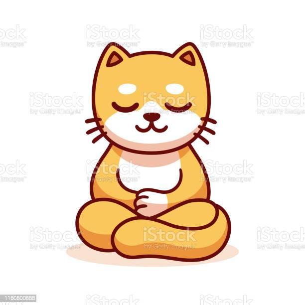 Cartoon cat meditating vector id1180800888?b=1&k=6&m=1180800888&s=612x612&h=uhgbk3headryihdwu2jgr92evygwgfoydrlwh2dfeyk=