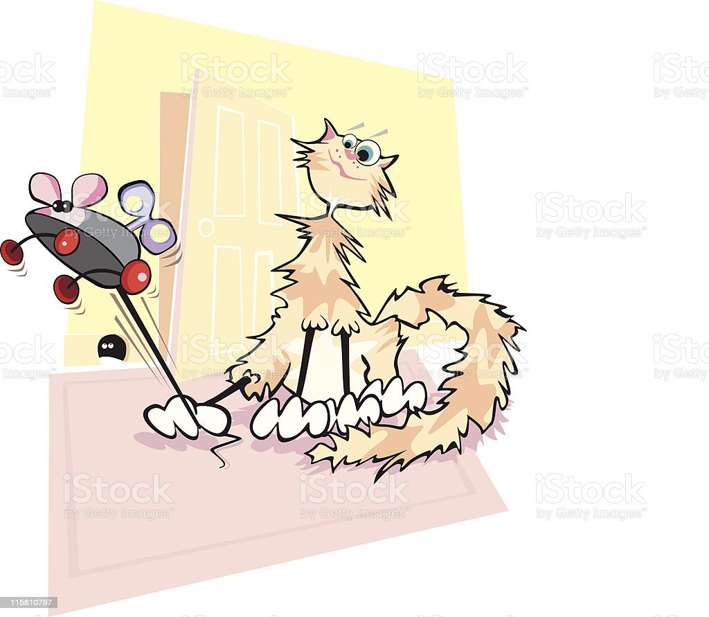 Cartoon Cat & Mouse royalty-free cartoon cat mouse stock vector art & more images of animal