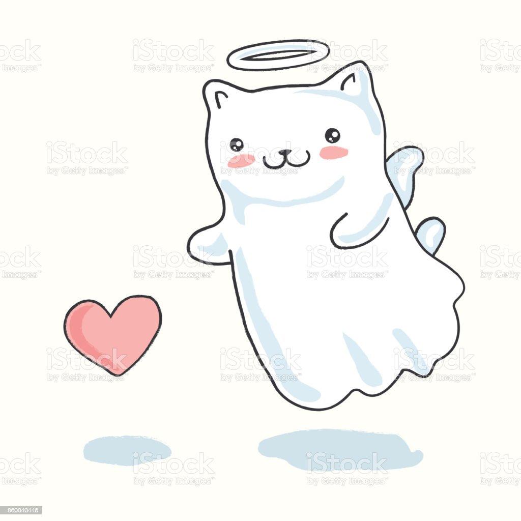 Dessin kawaii petit chat dessin de manga - Dessin de chat kawaii ...