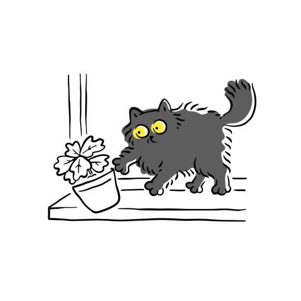 Cat Window Ledge Illustrations, Royalty-Free Vector ...
