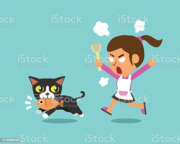 Cartoon cat stealing fish from woman vector id515599548?b=1&k=6&m=515599548&s=612x612&h=ajhx3cd hpkleguphwsikfklsu87h4u1h9ycfkxru8a=
