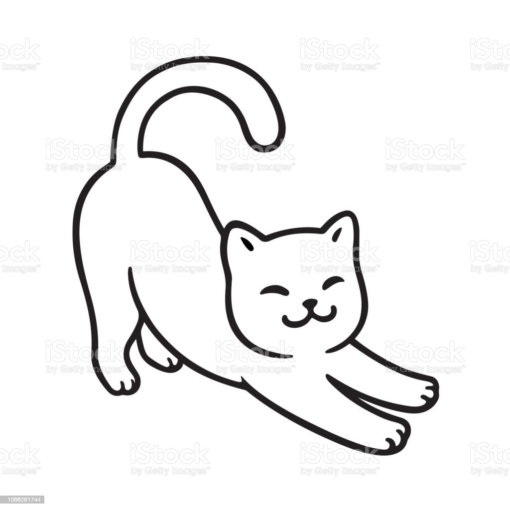 Cartoon Cat Stretch Stock Illustration Download Image Now Istock