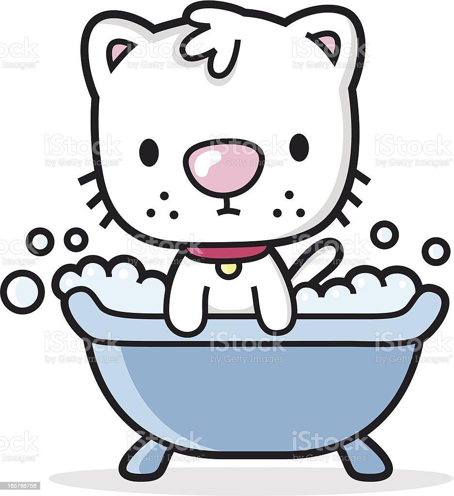 bathtub cartoon. cartoon cat takes a bath in the bathtub  shower royalty free stock vector art Cartoon Cat Takes A Bath In The Bathtub Shower