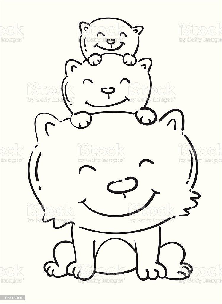 cartoon cat royalty-free stock vector art