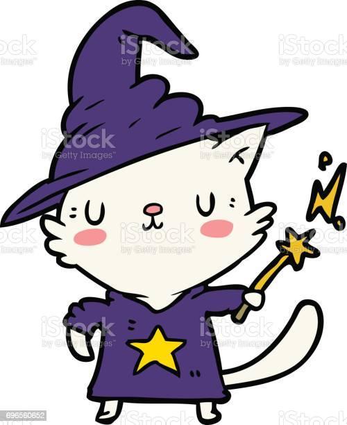 Cartoon cat wizard vector id696560652?b=1&k=6&m=696560652&s=612x612&h=jbhph pm bxdugdos5upfgcw4kcmkscwys3kjl9vekk=