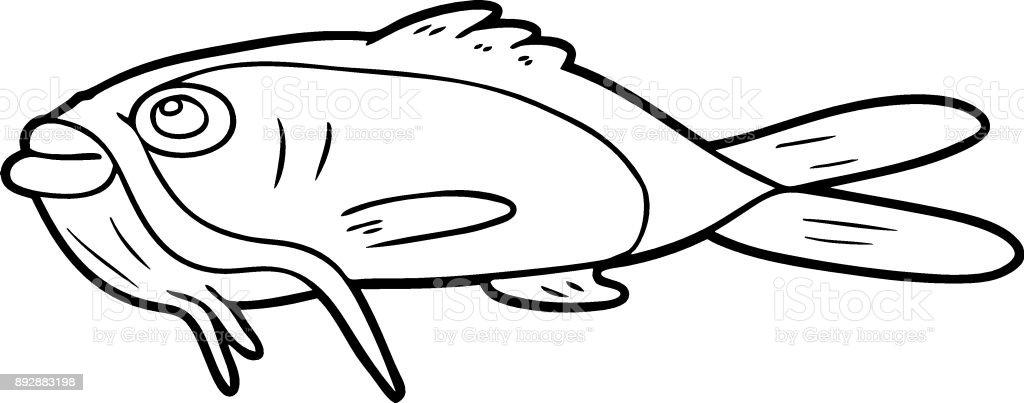 Ilustración de Pez Gato De Dibujos Animados y más banco de imágenes ...