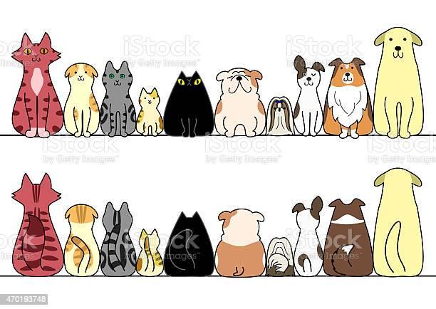 Cartoon cats and dogs sitting in a horizontal line vector id470193748?b=1&k=6&m=470193748&s=612x612&h=v4j96tgpieubnvlbzemkv77kl9eei4pm3qpopgukmxe=