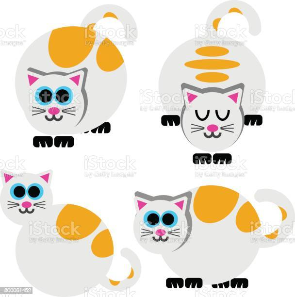 Cartoon cats set simple modern geometric flat style vector vector id800061452?b=1&k=6&m=800061452&s=612x612&h=jtmnubkcuvkyy 7n u4vbtah68vzzet1kk2uh2hl hy=