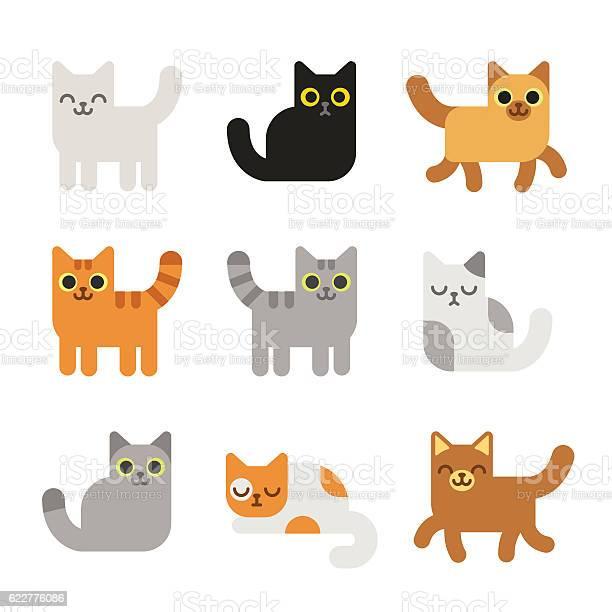 Cartoon cats set vector id622776086?b=1&k=6&m=622776086&s=612x612&h=gv3xgdg8reqlckd9qxt8h1bdh7ffsiymeaucbyyygnk=