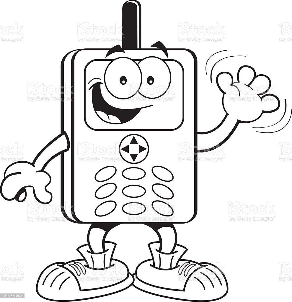 Ilustración De Dibujos Animados Teléfono Celular Y Más Vectores